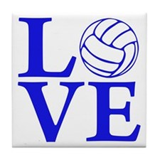 blue2, Volleyball LOVE Tile Coaster