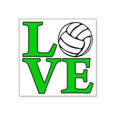 "green, Volleyball LOVE Square Sticker 3"" x 3"""