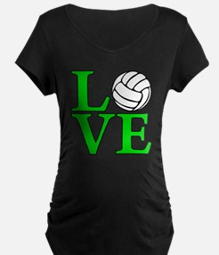 green, Volleyball LOVE T-Shirt