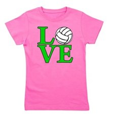 green, Volleyball LOVE Girl's Tee
