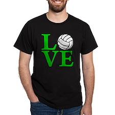 green, Volleyball LOVE T-Shirt
