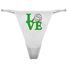 green, Volleyball LOVE Classic Thong