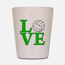 green, Volleyball LOVE Shot Glass