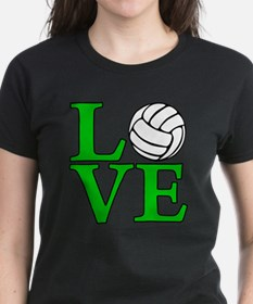 green, Volleyball LOVE Tee