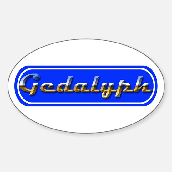 Gedalyph - (Get A Life) Oval Decal