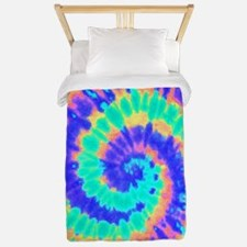 TieDyeColorful2 Twin Duvet