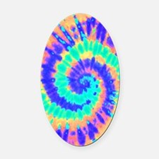 TieDyeColorful2 Oval Car Magnet