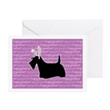 Scottie easter cards Greeting Cards (10 Pack)