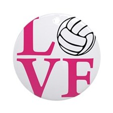 melon2, Volleyball LOVE Round Ornament