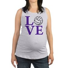 purple2, Volleyball LOVE Maternity Tank Top
