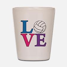 multi, Volleyball LOVE Shot Glass