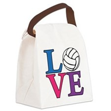 multi, Volleyball LOVE Canvas Lunch Bag