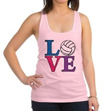 multi, Volleyball LOVE Racerback Tank Top