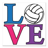 Volleyball Square Car Magnets