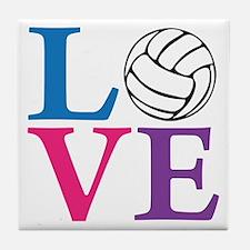 multi2, Volleyball LOVE Tile Coaster