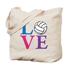 multi2, Volleyball LOVE Tote Bag