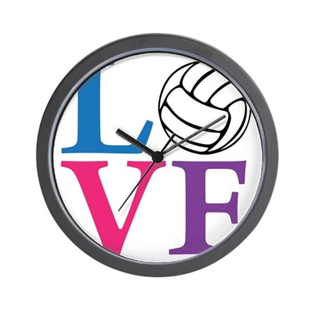 multi2, Volleyball LOVE Wall Clock