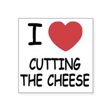 """CUTTING_THE_CHEESE Square Sticker 3"""" x 3"""""""