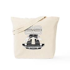 Camaro Black 1969 Tote Bag