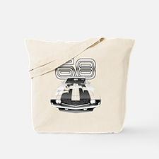 Camaro Black 1968 Tote Bag