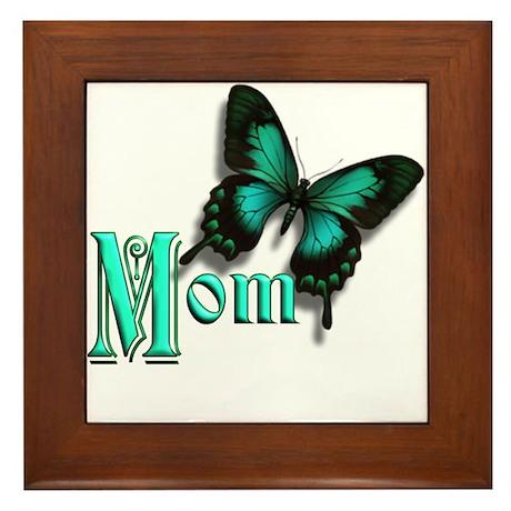 Mom Butterfly Framed Tile