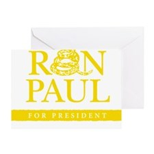 Ron_Paul_Gadsden-gold Greeting Card