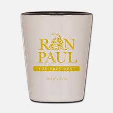 Ron_Paul_Gadsden-gold Shot Glass