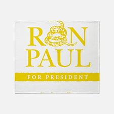Ron_Paul_Gadsden-gold Throw Blanket