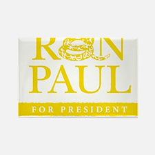 Ron_Paul_Gadsden-gold Rectangle Magnet