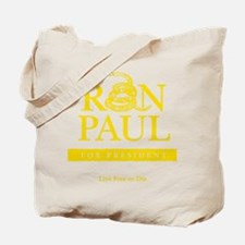 Ron_Paul_Gadsden-gold Tote Bag