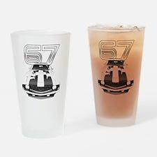 Camaro Black 1967 Drinking Glass