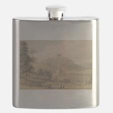 Carreg Cennan Castle - Paul Sandby - c1800 Flask