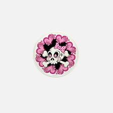 Cute Skull and Hearts.ai Mini Button