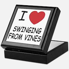 SWINGING_FROM_VINES Keepsake Box