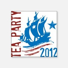 "Tea Party2012 Square Sticker 3"" x 3"""