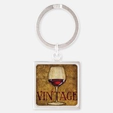 Wine Best Seller Square Keychain