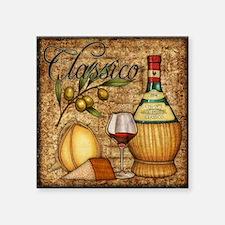 "Wine Best Seller Square Sticker 3"" x 3"""