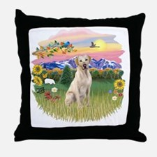 Mt. Country - Yellow Lab Throw Pillow