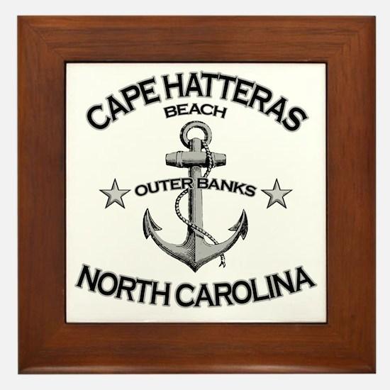 CAPE HATTERAS NORTH CAROLINA copy Framed Tile