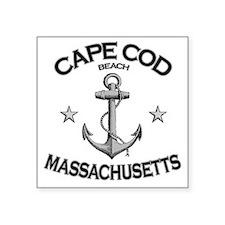 """CAPE COD SEASHORE BEACH MAS Square Sticker 3"""" x 3"""""""