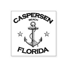 "Caspersen Beach Florida Square Sticker 3"" x 3"""