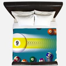 poolballs1 King Duvet