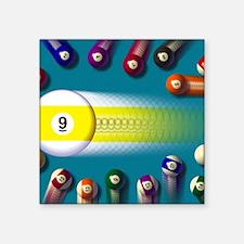 "poolballs1 Square Sticker 3"" x 3"""