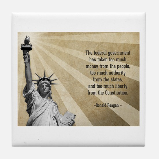 Ronald Reagan Quote Tile Coaster