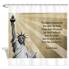 Ronald Reagan Quote Shower Curtain