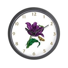 Tulip & Friends Wall Clock