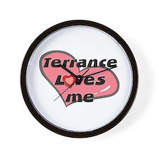 terrance loves me  Wall Clock