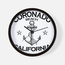 CORONADO BEACH CALIFORNIA copy Wall Clock