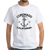 San diego Mens White T-shirts