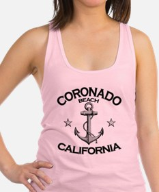 CORONADO BEACH CALIFORNIA copy Racerback Tank Top